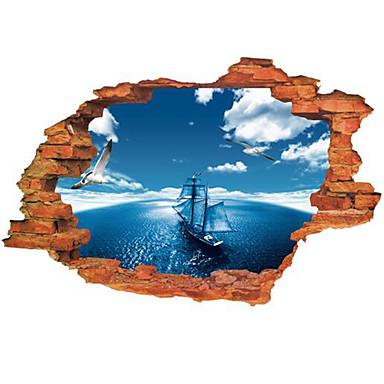 Landskab Vægklistermærker 3D mur klistermærker Dekorative Mur Klistermærker, Vinyl Hjem Dekoration Vægoverføringsbillede Væg