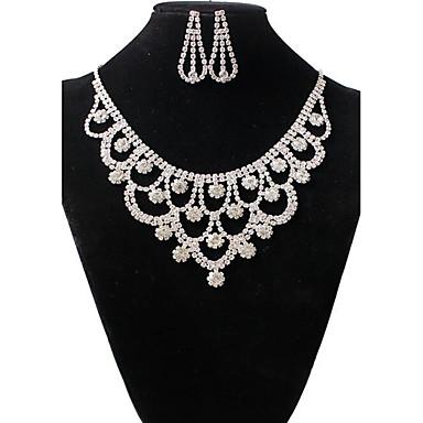 Damen Halskette / Ohrringe Strass Aleación Retro Niedlich Party Modisch Hochzeit Party Ohrringe Halsketten Modeschmuck