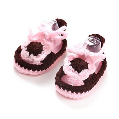 Meisjes Baby Platte schoenen Eerste schoentjes Polyester Lente Zomer Herfst Causaal Eerste schoentjes Zwart Fuchsia