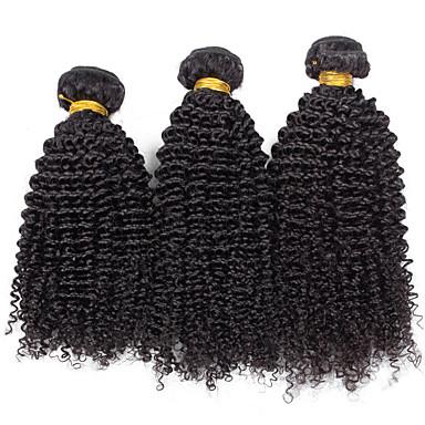 Human Hair vævninger Brasiliansk hår Kinky Curly 18 Måneder 3 Dele hår vævninger