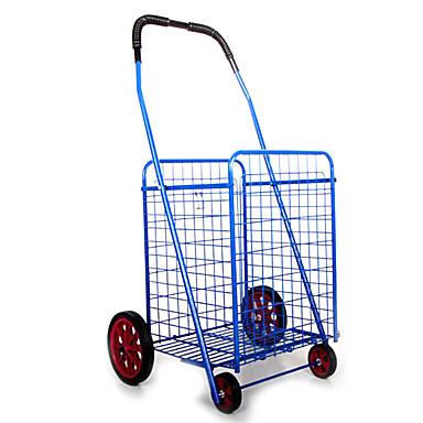 jumbo folde indkøbsvognen vegetabilske vogne folde beholder (salg 42 * 39 * 84cm blå)