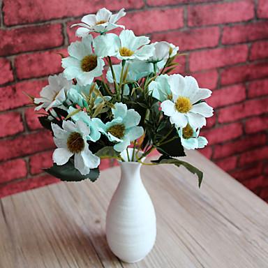 1 Ramo Poliéster Plástico Sakura Flor de Mesa Flores artificiais