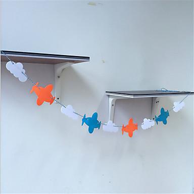 koreanisches Flugzeug Weberei Girlande Fahnen Wolken Geburtstagsparty Dekoration Dekoration Heimtextilien Vliesstoff