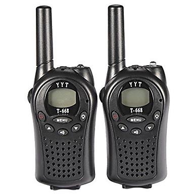 T668446 Walkie-talkie Håndholdt Advarsel Om Lavt Batteri VOX Kryptering CTCSS/CDCSS baggrundslys LCD Scan Overvågning 3-5 km 3-5 km 8 0.5W