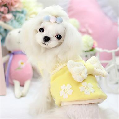 Hond Jurken Hondenkleding Casual/Dagelijks Effen Strik Geel Blauw Roze