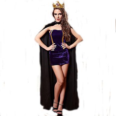Cosplay Kostumer Prinsesse / Eventyr Film Cosplay Lilla Ensfarvet Top / Nederdel / Hovedstykke / Kappe Halloween / Jul / Nytår Kvindelig