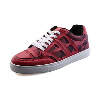 Sneakers-PUHerre-Sort Blå Rød-Fritid-Flad hæl