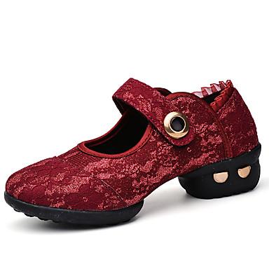 Kan ikke tilpasses Damer Moderne Blonde Læder Sneakers Optræden Lave hæle Hvid Sort Rød