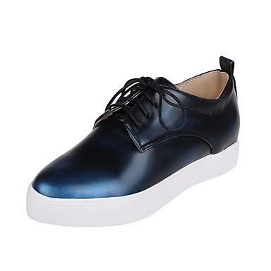 Dame-Syntetisk-Flat hælFlate sko-Fritid-Svart Blå Rød
