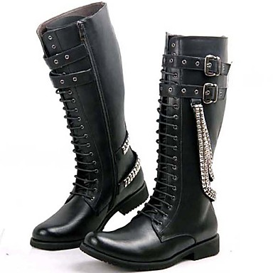 Men's Fashion Boots Fall Customized Materials Spring / Fall Boots / Winter Boots Black / Party & Evening c34c63