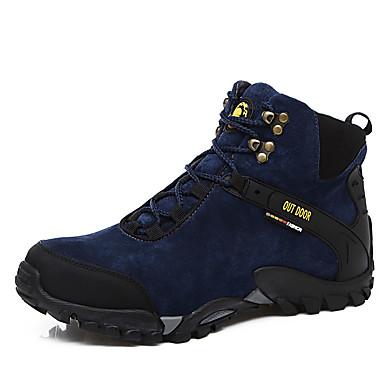 Heren Schoenen Weefsel Herfst / Winter Comfortabel Laarzen Zwart / Donkerblauw
