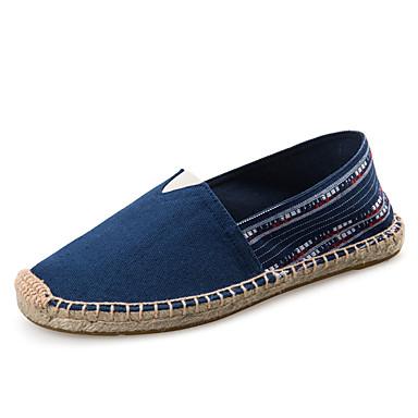 Loafers og Slip-ons-Kanvas-Komfort-Herre-Sølv Grå Guld-Udendørs Kontor Fritid-Flad hæl