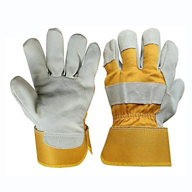 særlige arbejdskraft beskyttelse svejser læderhandsker anti-skoldning (one size)
