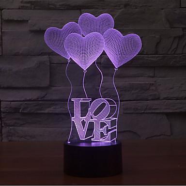 Liebes-Touch, der 3d geführte Nachtlicht 7colorful Dekorationatmosphäre-Lampe Neuheitlicht verdunkelt