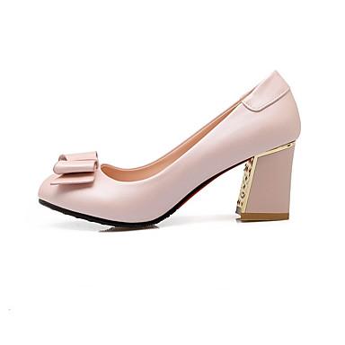 Støvler-PUDame-Sort Blå Rosa Hvid-Bryllup Formelt Fritid-Tyk hæl
