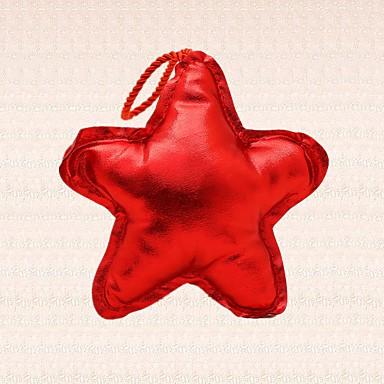 1pc rød stjerne juletræ dekoration vedhæng saloon bar party middag forsyninger