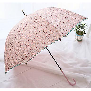 Udvalgte Farver Sammenfoldet paraply Solparaply / Sunny og regnfulde / Regn Metal / tekstil / SiliconeKlapvogn / børn / Rejse / Lady /