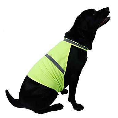 Kat Hund Vest Hundetøj Ensfarvet Orange Gul Blandet Materiale Kostume For kæledyr Herre Dame Afslappet/Hverdag Sport