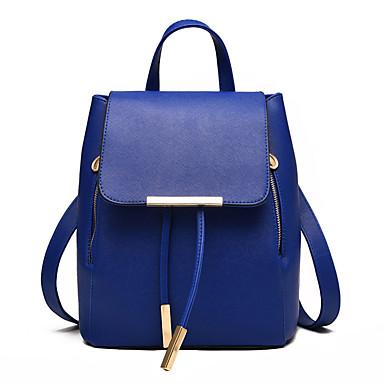 hesapli Çantalar-Kadın's Perçin / Düğme sırt çantası sırt çantası PU Ekose Açık Yeşil / Fuşya / Açık Mavi