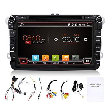 4 Kerne 8 '' Auto-DVD-Spieler GPS navi bt Radio im Armaturenbrett eingebaute 3G / Wi-Fi swcfull Funktionen für vw