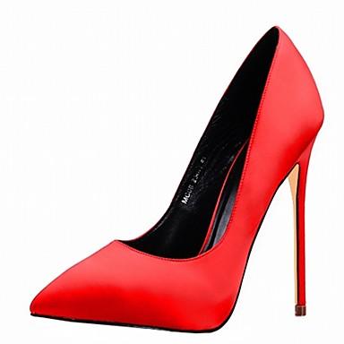 Korkokengät-Piikkikorko-Naisten kengät-Kiiltonahka / Mikrokuitu-Musta / Sininen / Pinkki / Punainen / Valkoinen-Häät / Toimisto / Puku /