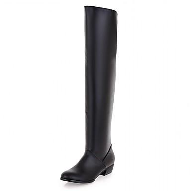 Dame-Syntetisk-Flat hæl-Cowboystøvler Snøstøvler Ridestøvler Motestøvler-Høye hæler-Bryllup Kontor og arbeid Formell Fritid Fest/aften-