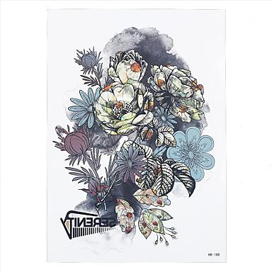 Tatoveringsklistremerker Blomster Serier Ikke Giftig Mønster Korsryggen VanntettDame Voksen Flash-tatovering midlertidige Tatoveringer