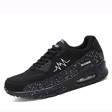 Unisex Tulle Spring Shoes / Fall Sneakers Running Shoes Spring Slip Resistant White / Black / Black / White d286ad