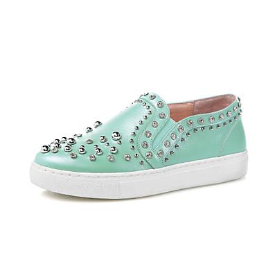 Dame-Lær-Flat hæl-Komfort-一脚蹬鞋、懒人鞋-Friluft Formell Fritid-Svart Blå