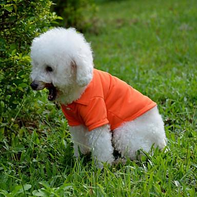 Cachorro Camiseta Roupas para Cães Casual Sólido Amarelo Vermelho Verde Azul Rosa claro