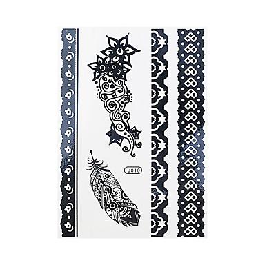 1 Tatoveringsklistermærker Smykke Serier Non Toxic / Mønster / Waterproof / henna / BryllupDame / Voksen Flash tatoveringMidlertidige