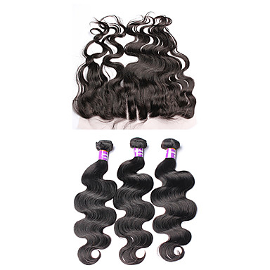 Brazilian Hair Body Wave Human Hair Weaves 4 Pieces 0.34