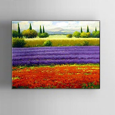 Hang-geschilderd olieverfschilderij Handgeschilderde - Landschap / Fantasie / Abstracte landschappen Klassiek / Pastoraal / Modern Kangas