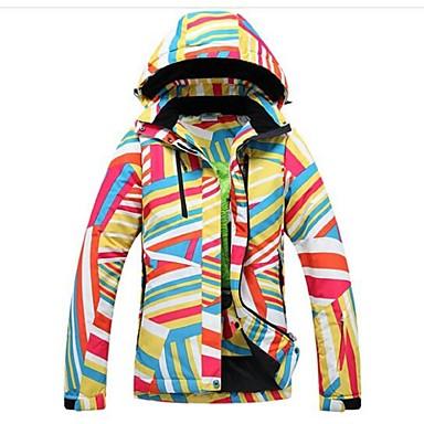 Roupa de Esqui Jaquetas de Esqui/Snowboard Mulheres Roupa de Inverno Poliéster Vestuário de InvernoMantenha Quente / A Prova de Vento /