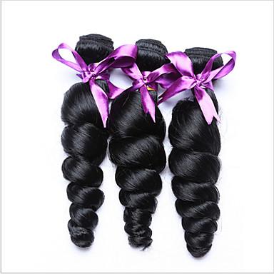 Menneskehår, Bølget Indisk hår Løst, bølget hår 3 Dele hår vævninger