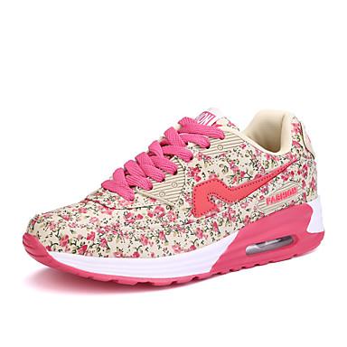 Sneakers-Stof-Komfort-Dame-Rosa Lilla-Fritid-Flad hæl