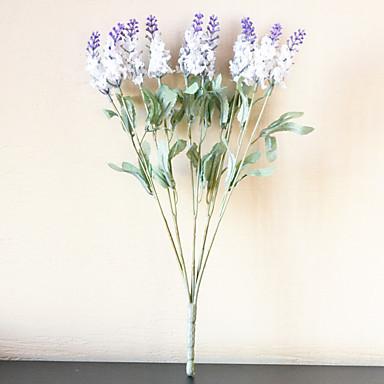 1 1 Afdeling Polyester / Plastik Lyseblå Bordblomst Kunstige blomster 14.17inch/36cm