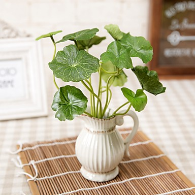 1 1 Branch Polyester / Plastikk Planter Bordblomst Kunstige blomster 14.5inch/37cm