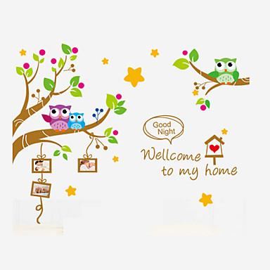 Tiere Wand-Sticker Flugzeug-Wand Sticker Foto Sticker,PVC Stoff Abziehbar / Repositionierbar Haus Dekoration Wandtattoo