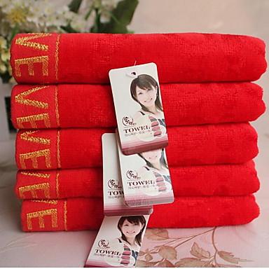 Frisk stil Vaskehåndklæde,Reaktivt Print Overlegen kvalitet 100% Bomuld Strikket Jacquard Håndklæde