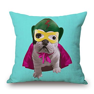 PC Algodón/Lino Cobertor de Cojín, Estampado Animal Con Texturas Novedad Casual Detalle Decorativo Moderno/Contemporáneo