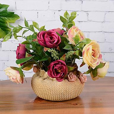 11 Afdeling Silke Roser Bordblomst Kunstige blomster