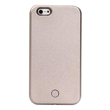 Hülle Für Apple iPhone X iPhone 8 iPhone 6 iPhone 6 Plus Staubdicht Stoßresistent LED LED - Blinklicht Rückseite Volltonfarbe Hart