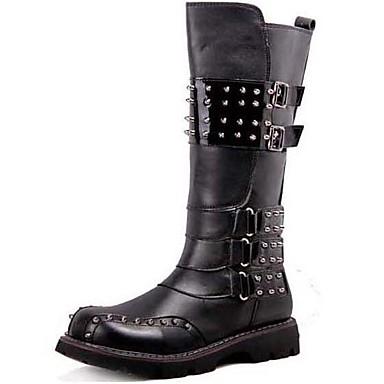 Homens Fashion Boots Sintético Outono / Inverno Conforto / Botas de Moto Botas Preto / Festas & Noite