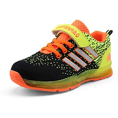 Sneakers-Tyl PU-Mary Jane Komfort-Drenge-Rosa Orange Marineblå-Fritid Sport-Flad hæl