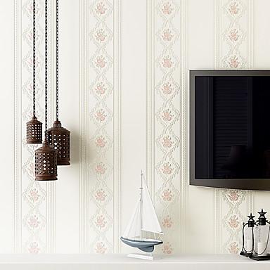 Floral / Geometric Taustakuva Kotiin Nykyaikainen Seinäpinnat , Non-woven Paper materiaali liima tarvitaan tapetti , huoneen Tapetit