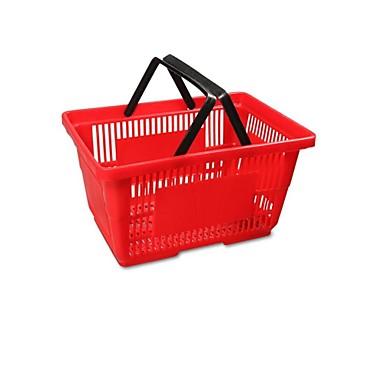 super shopping basket plast indkøbskurv supermarked shopping basket kurve (store røde salg 480 * 330 * 260)