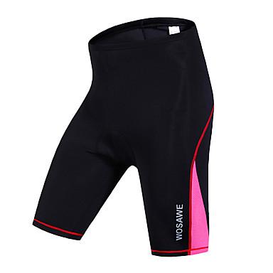 WOSAWE Mujer Pantalones Acolchados de Ciclismo Bicicleta Shorts / Malla corta / Prendas de abajo Secado rápido, Resistente al Viento,