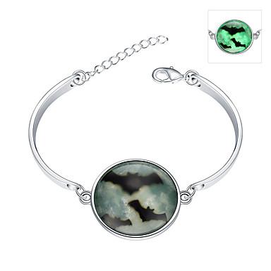 Smaragd Vedhend Armband Armringer - Sølv, Smaragd Bohemsk, Punk, Europeisk Armbånd Grønn Til Bryllup Fest Daglig