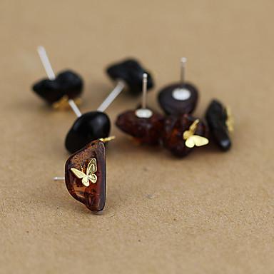 Dames Oorknopjes Modieus Amber Dierenvorm Vlinder Sieraden Voor Dagelijks Causaal